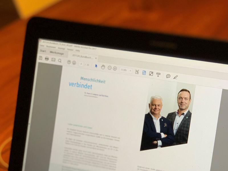 Dr. Sven U. Lagner und Olaf Klok Geschäftsführer Elisabeth Vinzenz Verbund