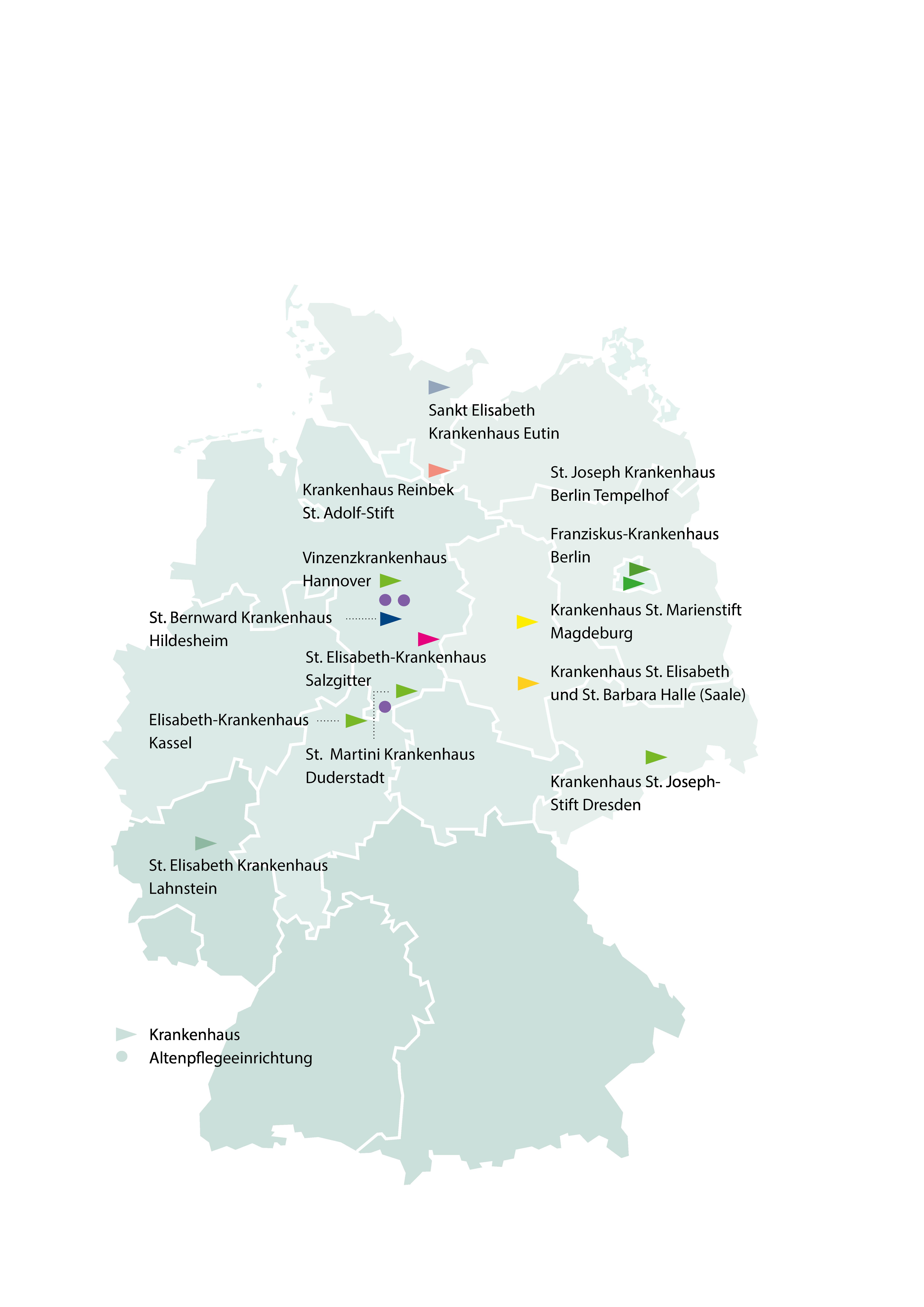 Karte über alle Häuser